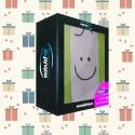 Coffret Cadeau: Un coussin Mabulle Anis + Gant de toilette Anis
