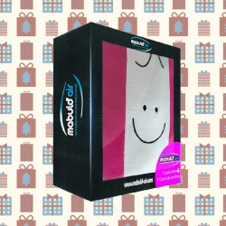 Coffret Cadeau Coussin Mabulle Fuchsia + 1 gant de toilette Fuchsia