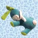 Peluche: Lapin rêveur bleu