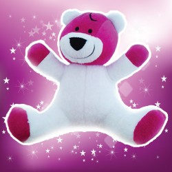 Peluche made in France Le Grand Magnifique Fuschia